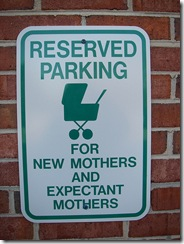 Reserved Parking For New Mothers Only by  OddBall7