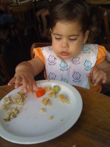 Noa eating healthy